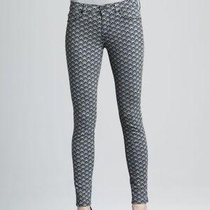 Hudson Nico size 26 fan print skinny jeans